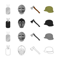 army weapons attributes and other web icon in vector image