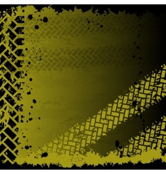 Background with tire tracks vector image