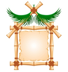 bamboo frame vector image