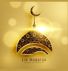 beautiful mosque design for islamic eid festival vector image