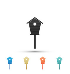 bird house icon isolated on white background vector image