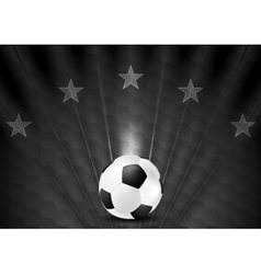 Black abstract soccer football background with vector