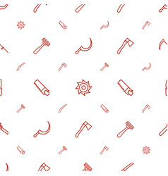 Blade icons pattern seamless white background vector