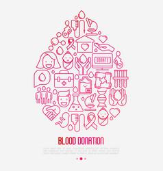 Blood donation concept drop blood vector