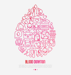 Blood donation concept drop of blood vector
