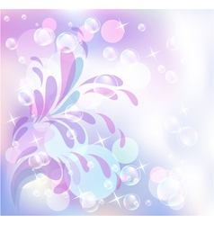 Bokeh and bubbles vector image