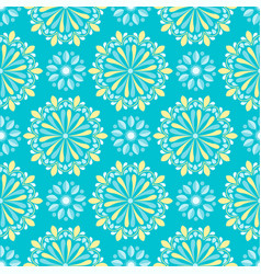 Bright mandala pattern on green background vector