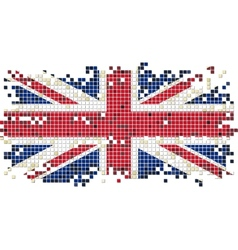 British grunge tile flag vector