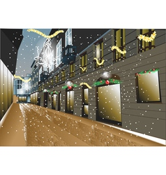 Christmas night in the city vector image