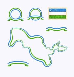 colors uzbekistan vector image