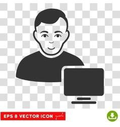 Computer Administrator EPS Icon vector