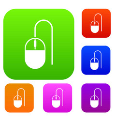 computer mouse set collection vector image