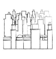 contour city buildings icon image vector image