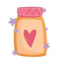 cooking kitchen glass jar jam cartoon style vector image