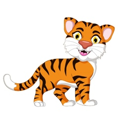 Cute tiger cartoon for you design vector