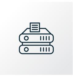 Data storage icon line symbol premium quality vector