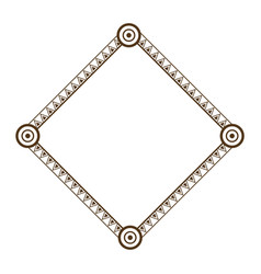 Decorative frame geometric decoration abstract vector