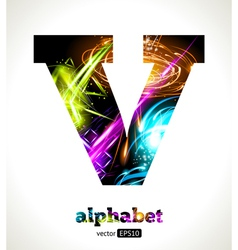 Design abstract letter v vector