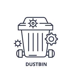 dustbin line icon concept dustbin linear vector image