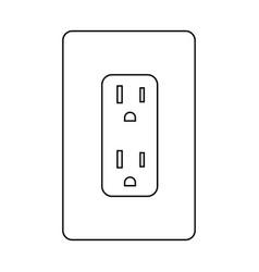 electrical socket type b power plug and canada vector image