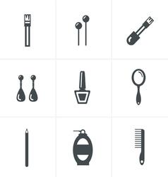 Elegant Fashion Icons Set vector image
