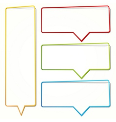 empty dialogue frame sticker vector image