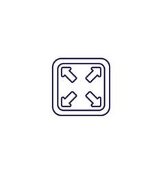 Enlarge icon line design vector