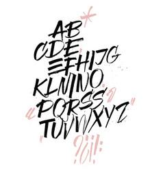 Expressive calligraphic script blots n splashes vector