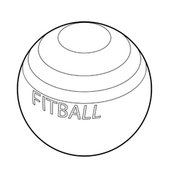 Fitball for fitness icon outline style vector