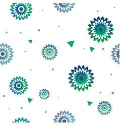 Flowers pattern with circle vector