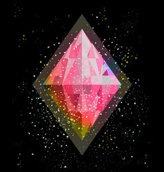 Gem or crystal in the space abstraction vector