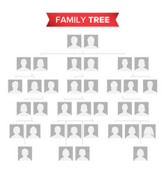 Genealogical tree blank family history vector