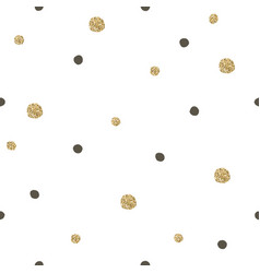 Gold and black random dots seamless pattern vector