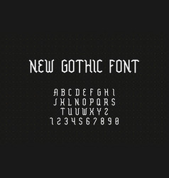 gothic font geometric medieval alphabet with vector image