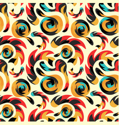 graffiti abstract seamless pattern grunge effect vector image