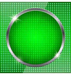 Green fluorescent background vector image