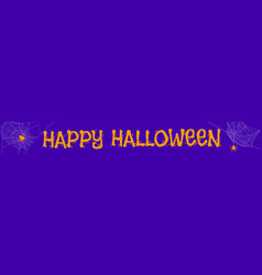 halloween purple banner vector image