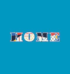 Home concept word art vector