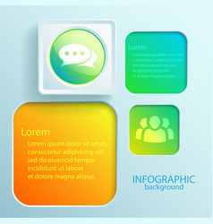 infographic interface elements vector image