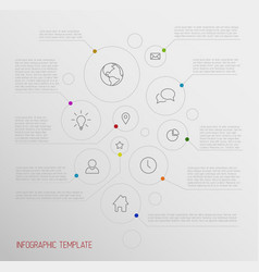 Infographic report poster with circles vector