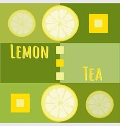 Lemon tea background vector