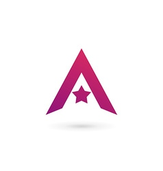 Letter A star logo icon design template elements vector image