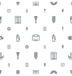 light icons pattern seamless white background vector image