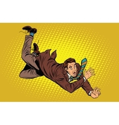 Man falls down from a height vector