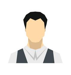 Man flat avatar on white background vector
