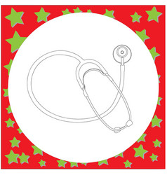 Medical stethoscope vector