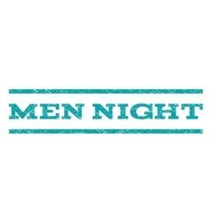 Men Night Watermark Stamp vector image