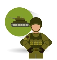Military tank design vector