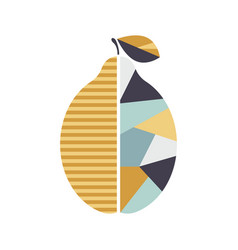 Modern geometric lemon modern fruit poster good vector