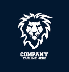 modern logo lion head vector image